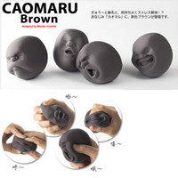 Wholesale Fun Office Gadgets - Wholesale-Cao maru fun creative human face decompress ball novelty prank office gadgets gifts toys squeeze balls anti pressure reduce toy