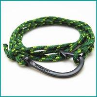 Wholesale European Charms Stand - FREE SHIPPING 10PCS Lot Bracelets Men Bracelet Genius Leather Rope Alloy Hook Bracelet Simple Stand for Power European