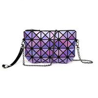 Wholesale Messenger Ups - 2017 New Japan Baobao Clutch Handbags Messenger Bag Bao Women Make Up Laser Sac Bags Geometry Envelope Clutch Phone Small Bag