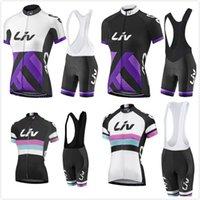 Wholesale Uv Clothing Women - 2017 Pro team LIV women cycling jersey ROPA ciclismo WOMEN cycling clothing maillot ciclismo bicicleta bike clothing with bib shorts set