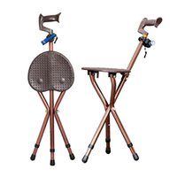 Camping réglable pliable Walking Cane Chair Tabouret Massage Walking Stick avec Seat Portable Fishing Rest Stool
