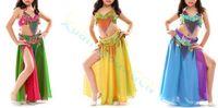 Wholesale Kids Dance Latin Skirt - women girl Parenting Tassel belt Beads bra split skirt set kid Belly Dance dress suit Dancer Practice Costume Jazz Latin dance Performance C