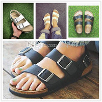 Wholesale Beach Walks - 2017 New arrive Summer Men And Women Birkenstock Classic Milano Cork sandals Hard wear Let you walk like a barefoot on a beach size 36-40
