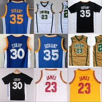 Wholesale Dry Goods - Mens Basketball Jerseys New arrival 35 Kevin Durant Jersey 30 Stephen Curry LeBron 23 JAMES Good Quality sttiched SWINGMAN