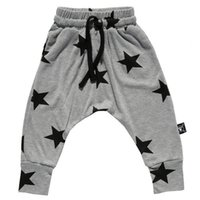 Wholesale Kids Haren Pants - spring autumn child bottoms high quality kids children's boy's girl's star printed haren pants baggy pants trousers