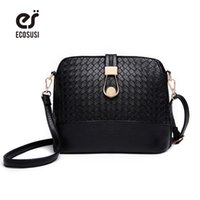 Wholesale Durable Messenger Bag - Wholesale-Knitting Women Messenger Bags Fashion Shell Female Bag Women Leather Bag Durable Cross-Body Women Bag Ladies Wallet Shoulder