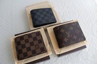 Wholesale Men Wallet Pockets - 2017 New Men Luxury Brand Leather Wallet,Fashion Men Purse Arteira Masculina Short Coin Pocket Men Purse Luxury L Brand Carteras With Box