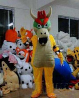 Wholesale Costume Bowser - Factory outlet Adult express it in High quality SUPER MARIO BOWSER KOOPA Adult Size Mascot Costume Fancy Outfit