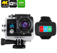 Wholesale new professional camcorders for sale - Group buy Q3H K Ultra HD P Waterproof Sports Camera MP LCD Camcorder Wifi Remote