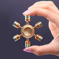SHINEHENG Mano Spinner Ottone Luminoso Fidget Spinner Giocattolo EDC Finger Spinner Anti Stress Wheel Giocattoli Stres Spiner Song Stress Cube
