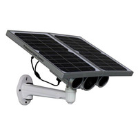 Wholesale Ip Camera Solar Power - New Solar Power WIFI ONVIF IP Camera with Night Vision & Online Remote Monitoring by Free APP & High Power Battery & Solar Panel