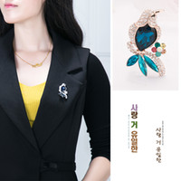 Wholesale New Accessories Korea - Handmade new coorful rhinestone The woodpecker brooch animal brooches for women Korea fashion Brand Designer Jewelry accessories
