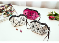 Wholesale Large Packaging Bags - New portable cosmetic bag geometric package handbag large capacity Waterproof double Wash Bag wet and dry separating bag