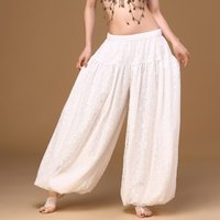 Wholesale Belly Dance Bloomers - 2017 Modern ATS Tribal Style Belly Dance Clothes Costume Accessories Women Gypsy Dance Bloomers Harem Hollow Pants