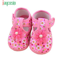 Vente en gros - Jaycosin Hot Baby Flower Bottes Soft Cloth Crib Shoes Confortable Levert Dropship Jan12