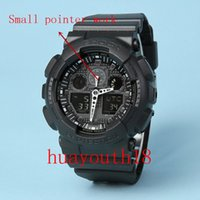 Wholesale Led Watch Gold - AAA 2017 Top Quality men G Sports Hiking Watches LED Digital 110 Wristwatch Waterproof Shock Watch All function Work with Original Box