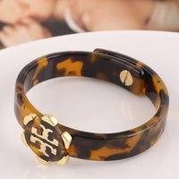 Wholesale Gold Plated Parts - Top quality Brass material metal clasp and hollow design pad lock Leopard resin part bangle in 1.2cm width women bracelet 5.7cm innerdiam