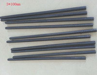Wholesale Lab Bar - 3*100mm High Purity Carbon Graphite Rod Bar For Electrodes ,Smelting,Casting ,Scientific research Lab Material