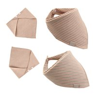 Wholesale muslin cloths wholesale - Wholesale- Fashion Striped Baby Bibs & Burp Cloths For Girls Boys Bandana Bibs Muslin Cotton Washcloth Towel Baby Haklappar Babadores