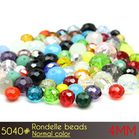Wholesale Crystal Beads Strands 4mm - Free Shipping Lovely DIY Gift Rondelle Beads 4mm Normall Color A5040 150pcs set Crystal Beads Strands