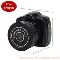 Wholesale Usb Web Mini Camera Hd - Wholesale-Portable 720P Y2000 USB 2.0 Mini PC Camera HD Web Camera SD Card 32GB Camera With Black for Digital DV Webcam Video Camcorder