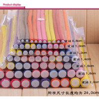 Wholesale Curling Rods Rollers - 10 pcs Lot Hair Curling Curler Magic Air Hair Roller Curlers Soft Foam Bendy Twist Magic Flexi Rods DIY Styling Hair Sticks Tool wholesale