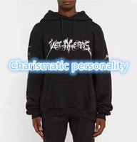 Wholesale Total Fashion Men - Wholesale- 2016 2017 rare new hiphop design vetements total fucking darkness men unisex baggy oversized black hoodie Brand Sweatshirts S-XL