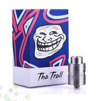Autêntico WOTOFO The Troll 2 RDA Rebuildable Dripping Atomizers Two Post Deck PEEK isolador encaixe 510 E Cigarette DHL Free