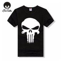 Wholesale Skull Blouse Wholesale - Wholesale- New Brand Clothing Summer Skull Dark Souls Punisher Print 3D T Shirt Men T-shirts 100% Cotton T-shirt Man Shirts Blouse Camiseta