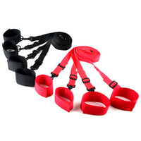 puños de acero de bloqueo de la muñeca al por mayor-Sex Bondage Under Bed Restraint HandCuffs Bondage Restraints Juegos divertidos para adultos Love Sex Toys Productos del sexo para parejas