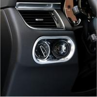 Wholesale Porsche Stickers - Car Console Headlight Switch Frame Decorative Cover Trim Sequins For Porsche Macan Interior Accessories ABS Strip