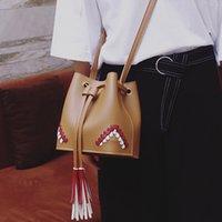 Wholesale Tassel Totes Bag For Sale - Tassel Handbag PU Leather Handbags Bucket Bag for Female Hot Sale Shoulder Bag with Cross-body Strap