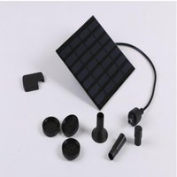 Wholesale Solar Brushless Water Pump Wholesale - 7V 1.2W Solar Panel Power Submersible Fountain Pond Pool Water Cycle Pump Outdoor Garden Brushless
