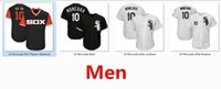 Wholesale Red Sox Cooperstown - Mens White Sox 10 Yoan Moncada Baseball Jersey Black White Gray Grey Green Salute Cooperstown Navy Team Logo