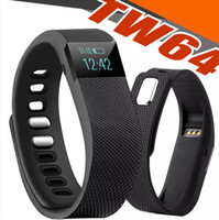 Wholesale Gps Watch Calories - TW64 Smart Watch Bluetooth Watch Bracelet Smart band Calorie Counter Pedometer Sport Activity Tracker For iPhone Samsung Android OME-TW64