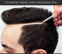 Wholesale New Magic Hair - New Arrival Salon Magic Engraved Pen Stainless Steel Pen Razor for Hair Styling Eyebrows and Beards Multi Purpose Razor