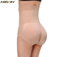 dikişsiz iç çamaşırı yastıklı külot toptan satış-Toptan-Hexin Nefes Pantolon Kadınlar Dikişsiz Traceless yastıklı BuLifter Yüksek Bel Seksi İç Giyim Kalçalar Vücut Şekillendirici Külot Push Up