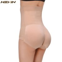 Wholesale Panty Pads - Wholesale- HEXIN Breathable Pants Women Seamless Traceless Padded BuLifter High Waist Sexy Underwear Buttocks Push Up Body Shaper Panty
