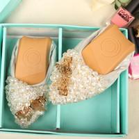 rollen sie goldstrasssteine großhandel-Heißer Verkauf weiche Oxford-Schuhe für Frauen schoenen Rhinestonegei rollt beiläufige spitze Zehendamenschuhe flache Ferse schoenen vrouw