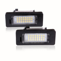 Wholesale bmw led license plate lighting - LED License Plate Lights SMD3528 6000K Number Plate Light For BMW E82 E88 E90 E92 E93 E39 E60 Sedan M5 E70 X5 E71 E72 X6