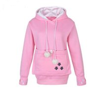 Wholesale Big Cotton Pouch - New Fashion Style Hoodie Big Mewgaroo hoodie Kangaroo Pouch for Cat Dog Pet Pullovers for women Big Pocket Casual sweatshirt Coat SA0005