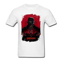 Wholesale Poster New Order - Wolfenstein The New Order Game Poster T Shirt For Men