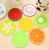 Wholesale Colorful Dining Table - Silicone Dining Table Placemats Coaster kitchen Accessories Mat Cup Bar Mug Fruit Colorful Placemats Coaster Mats & Pads TOP1753ZZ