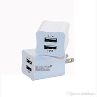 2 in 1 Dual USB Ladegerät Adapter 2 Port Ladegerät Adapter für iPhone 6 5 5s 4 4S iPod iTouch HTC Samsung