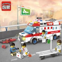 Wholesale First Role - Ambulance Nurse Doctor First Aid Building Blocks Enlighten Kids Educational Bricks Mini Toys Compatible