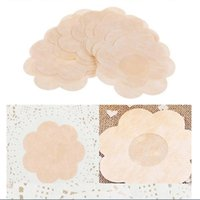 Wholesale Tape For Nipples - 100pairs Breast Petals Flower Sexy Disposable Soft Nipple Covers Tape Stick On Bra Pad Pastie For Women Intimate Accessories