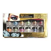 Wholesale Blue Minerals - Wholesale-Music Flower 12 Colors Eyeshadow Loose Powder Mineral Texture Eye shadow Shimmer Metallic Glow Glitter Powder Palette Makeup