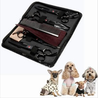 Wholesale Grooming Kit Dogs - Free Shipping !!! Professional Pet Scissors Kit Sharp Edge Dog Cat 4pcs Grooming With Storage Bag Your Best Choice