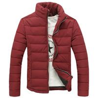 Wholesale Parkas Chaqueta - Wholesale- 2017 Men's Brand Down Cotton Jackets Parkas Winter Casual Stand Collar Jackets Cotton-padded Coat Chaqueta Pluma Hombre
