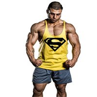 Wholesale Thin Modal Tops - Wholesale- New Mens Fitness Stringer Tank Top Brand Clothing Vest Professional Bodybuilding Men Fashion Tops 2016 Thin Straps YK9 Macho man